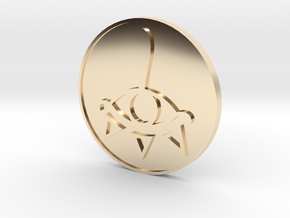 Zelda BotW Coin: Wingcrest and Sheikah Eye in 14k Gold Plated Brass