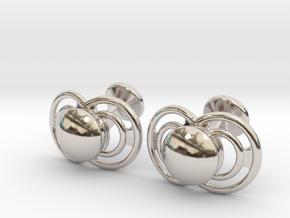 Pacifier Cufflinks in Rhodium Plated Brass
