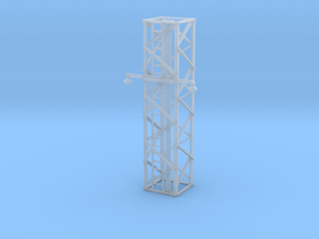 Light Tower Middle With Single Arm Lights 1-87 HO  in Smooth Fine Detail Plastic
