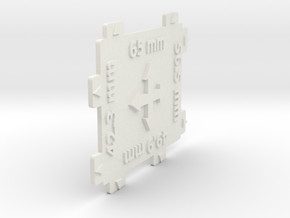 HO gauge 4 Way Track Spacer 1:87 scale in White Natural Versatile Plastic