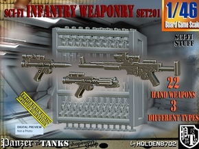 1/46 Sci-Fi Infantry Weaponry Set201 in Smooth Fine Detail Plastic