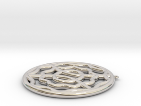 CYMATIC 9 Pectoral Piece in Rhodium Plated Brass