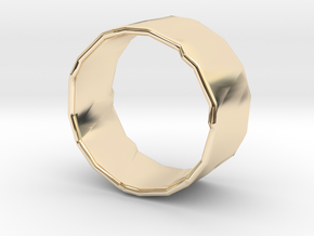 Rocky Ring 3 Size 8.25 in 14k Gold Plated Brass