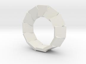 jewelry mobius segmented plates in White Natural Versatile Plastic: Large