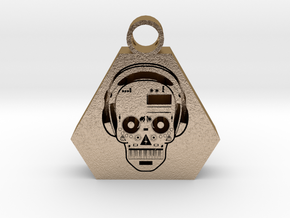 DJ pendant 2 in Polished Gold Steel