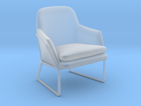 Miniature Frame Armchair - Made in Smooth Fine Detail Plastic: 1:12