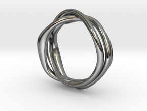 Erato ring in Fine Detail Polished Silver: 6 / 51.5