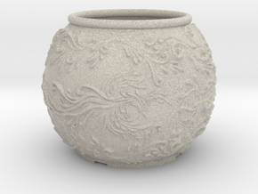 Phoenix planter in Natural Sandstone: Medium