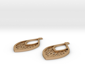 Edelmar earrings in Natural Bronze: Small