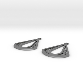 Calyson earrings in Natural Silver: Small
