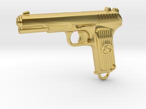 DETAILED TOKAREV TT33 in Polished Brass
