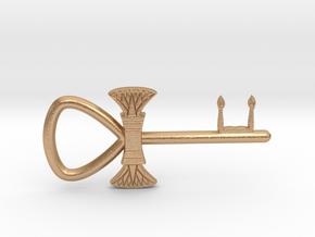 "3"" Ankh 'kA' key votive (lotus version) in Natural Bronze"