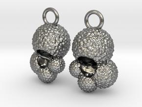 Globigerina Earrings in Natural Silver