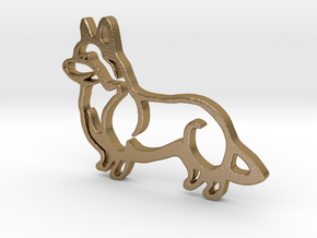 Corgi in Polished Gold Steel