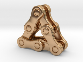 triangle of a bike chain [pendant] in Polished Bronze