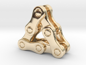 triangle of a bike chain [pendant] in 14K Yellow Gold