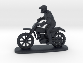 MX Bike Rider Stand 1:87 HO in Black Professional Plastic