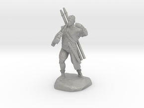 Half-orc pirate with Hammer and Net in Aluminum