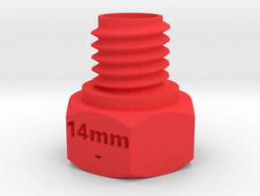 LPEG Muzzle to 14mm- Barrel Adapter in Red Processed Versatile Plastic
