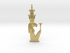 Repyt amulet in Natural Brass