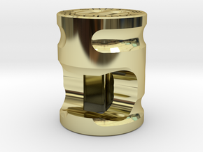 SNR BOT is a lanyard bead, bottle opener, and tool in 18k Gold Plated Brass