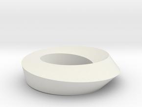 Mobius Loop - Square 1/4 twist in White Premium Versatile Plastic