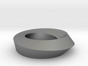 Mobius Loop - Square 1/4 twist in Natural Silver