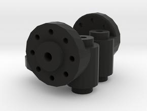 FR02 Racer - Steering Knuckles (pair) in Black Natural Versatile Plastic