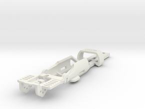 HO Slot Car Chassis - SL2-Mk4 release in White Natural Versatile Plastic