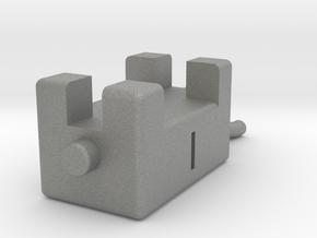 Vache 5cm corne légèrement avancée  in Gray Professional Plastic