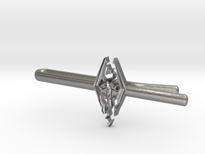 Skyrim tie clip in Natural Silver