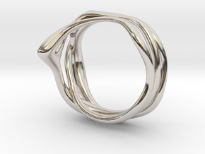 Euterpe ring in Rhodium Plated Brass: 3 / 44