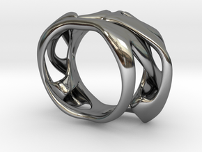 Uranie Ring in Fine Detail Polished Silver: 3 / 44