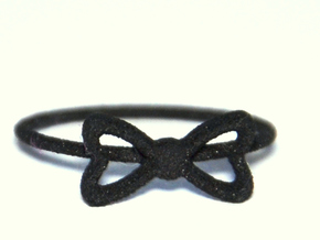 Knuckle Bow Ring, subtle and chic. in Black Strong & Flexible