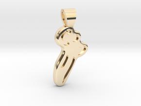 Handball [pendant] in 14K Yellow Gold