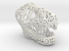 T-Rex Skull in White Natural Versatile Plastic