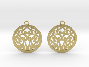 Elaine earrings in Natural Brass: Small