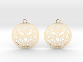 Elaine earrings in 14k Gold Plated Brass: Small