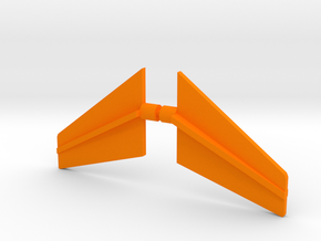 Star Defender Fins in Orange Processed Versatile Plastic