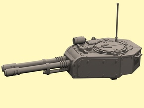 28mm tank turret automatic cannons (for new kit) in White Processed Versatile Plastic