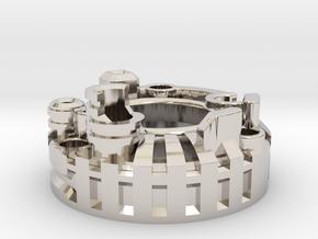 Graflex Mentor - Var2 Part01 - Blade Gen Style1 in Rhodium Plated Brass