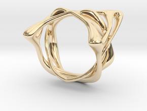Melpomène Ring in 14k Gold Plated Brass: 3 / 44