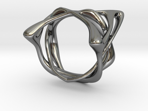 Melpomène Ring in Fine Detail Polished Silver: 3 / 44