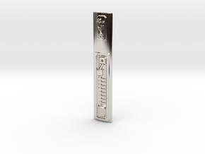 Graflex Mentor - Var2 Part13 - Power Cell Cover in Rhodium Plated Brass