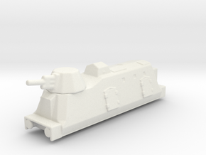 Panzerzüge artileriewagon armored train 2 1/144 in White Natural Versatile Plastic