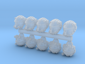 28mm Wastefall assault marine heads in Smoothest Fine Detail Plastic