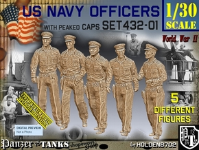 1/30 USN Officers Set432-01 in White Natural Versatile Plastic