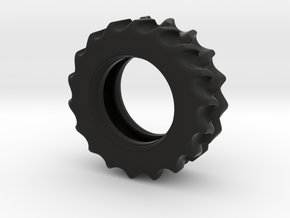 Rear-Wheel in Black Natural Versatile Plastic