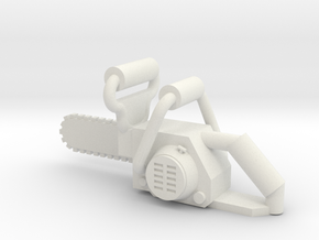 Brick-Scale Chainsaw in White Natural Versatile Plastic