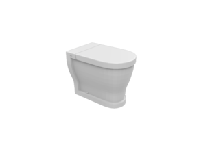 Miniature Opera Tondo Ceramic Toilet - Ciero in White Natural Versatile Plastic: 1:12